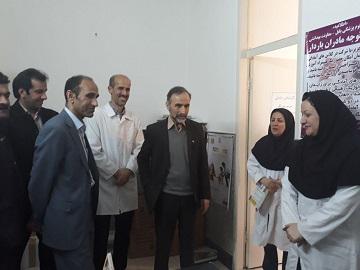 بازدید دکتر سید مظفر ربیعی رئیس دانشگاه علوم پزشکی بابل از مرکز خدمات جامع سلامت روستایی پیچا کلا بخش لاله آباد