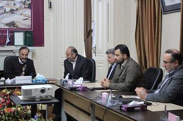نشست دکتر ربیعی رئیس دانشگاه علوم پزشکی بابل با مدیر کل تامین اجتماعی استان
